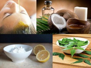 Coconut Oil & Lemon massage for dandruff free hair -
