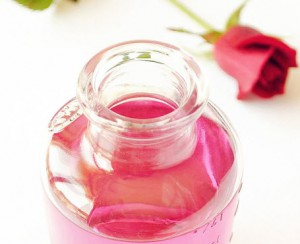 Rose water for dry lips