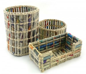 Make a Recycling Centre from Old Basket