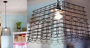 Old Wire Baskets used to light fixtures