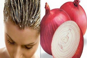 Onions juice for clean your Dandruff