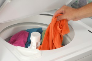 over loaded clothes in washing machine