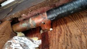 leakeg supply-pipe