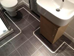 Consider an intent for bathroom floor work-