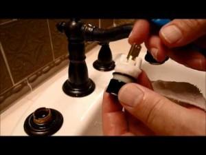 Repair bathroom tap