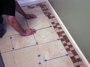 repair bathroom floor