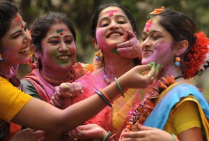 Enjoying Holi